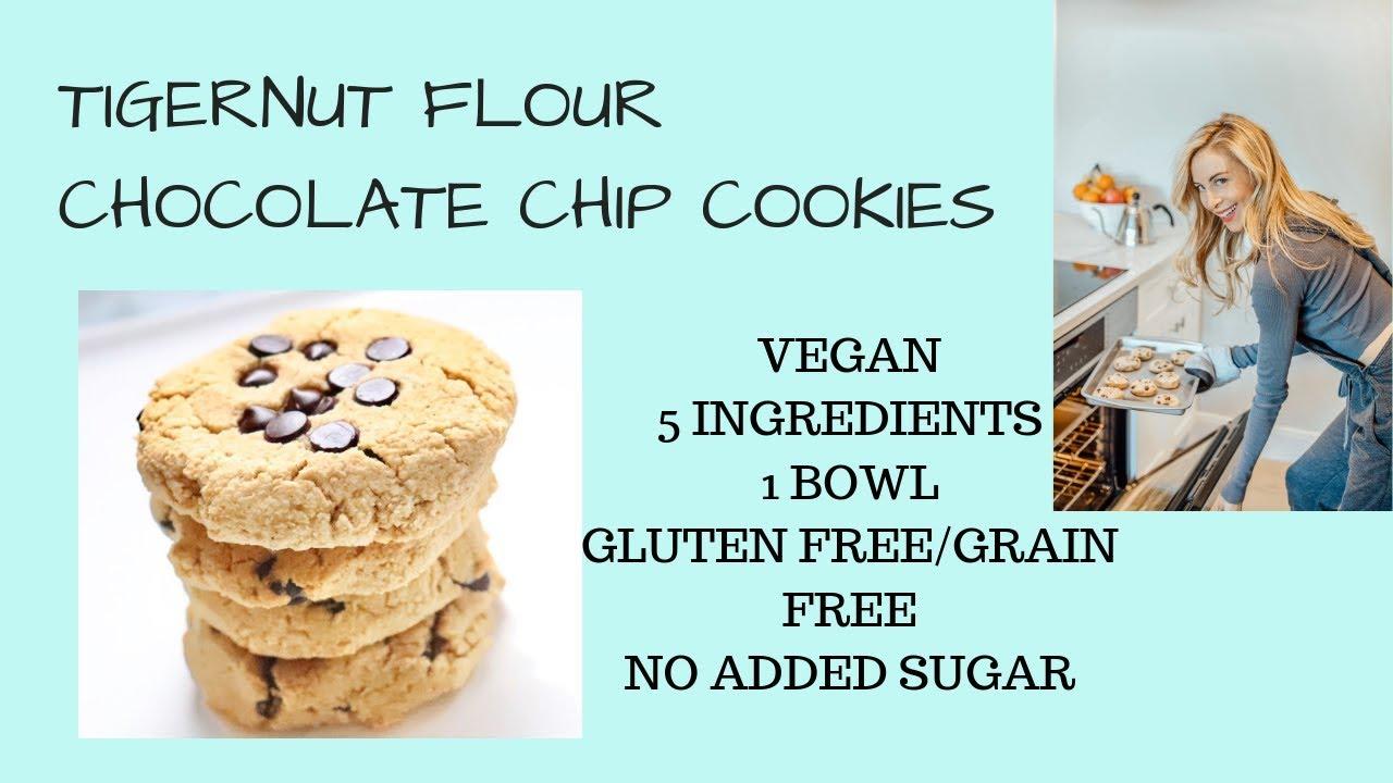 Tigernut Flour Chocolate Chip Cookies Just 5 Ingredients