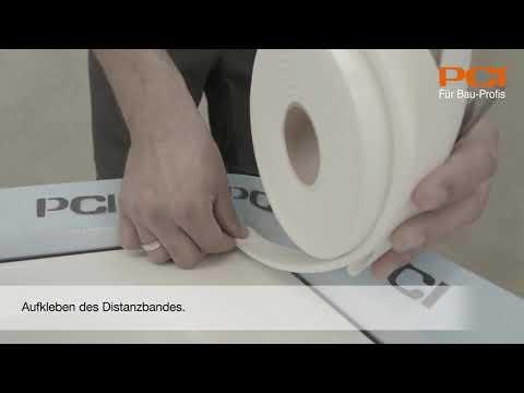 Abdichten von Badewannen und Duschtassen mit Wannendichtband PCI Pecitape WDB