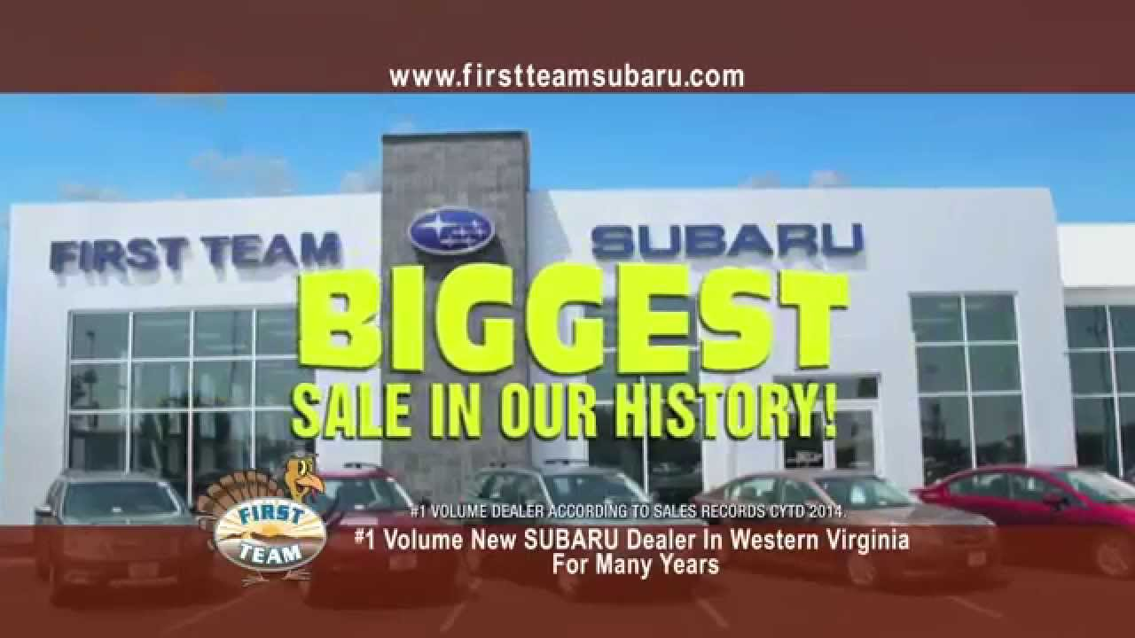 First Team Subaru >> First Team Subaru Biggest Sale Thanksgiving Youtube