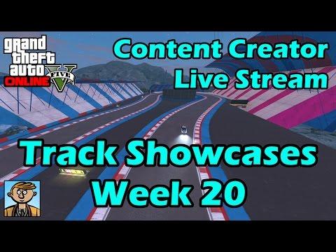 GTA Race Track Showcases (Week 20) [PS4] - GTA Content Creator Live Stream