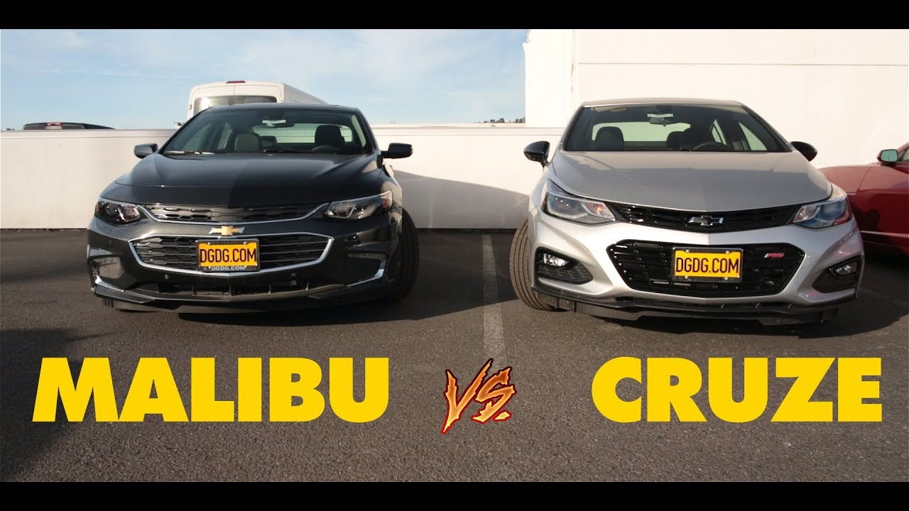 2018 CHEVY MALIBU VS 2018 CHEVY CRUZE DGDGTV YouTube