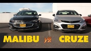 2018 CHEVY MALIBU VS. 2018 CHEVY CRUZE | DGDGTV