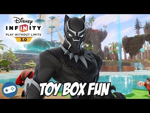 Black Panther Disney Infinity 3.0 Toy Box Fun Gameplay