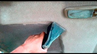 Химчистка очень грязного потолка Karcher Puzzi