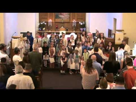 Easter Sunday, 2016, worship at Our Savior's, West Salem, Wisconsin