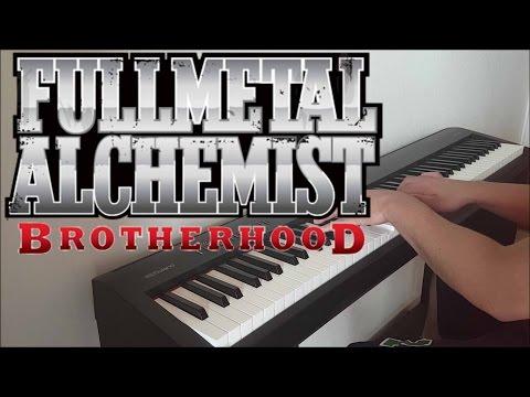 "Fullmetal Alchemist Brotherhood Ending 3 - ""Tsunaida Te"" (Piano w/ Lyrics)"