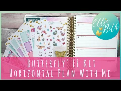 Erin Condren Horizontal Plan with Me - LE 'Butterfly' Kit
