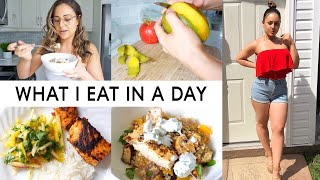 VLOG - COOK WITH ME & WHAT I EAT IN A DAY TO LOSE WEIGHT!