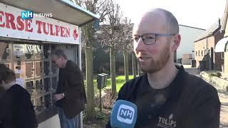 In Heemskerk kan je tulpen uit een automaat kopen