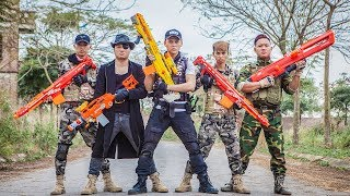 LTT Nerf War : Squad SEAL X Warriors Nerf Guns Fight Criminal Group Dr Lee Motorcycle Police
