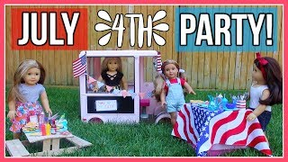DIY 4TH OF JULY PARTY! | DIY Treats, Decor, Outfit Ideas for American Girl Dolls!