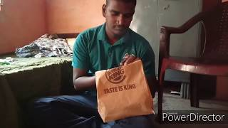 Burger King veg crispy  burger and wrap combo taste test and review😋