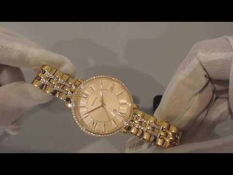 Women's Rose Gold Fossil Jacqueline Steel Glitz Watch ES3546