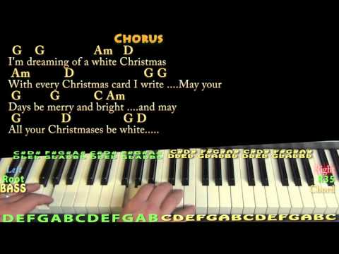 White Christmas (CHRISTMAS) Piano Cover Lesson in G with Chords/Lyrics