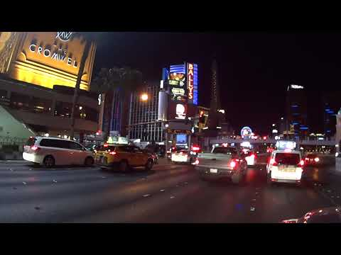 Driving Down the Las Vegas Strip on the Night of October 1st, 2017  (Lock Down)