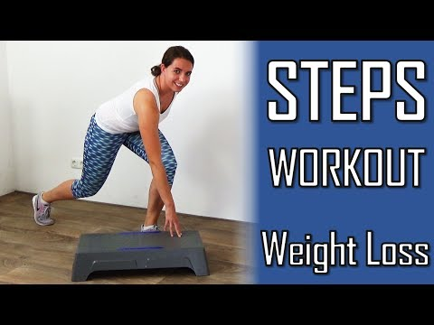 10 Minute Steps Workout for Weight Loss – Stepper Exercises Improving Fat Loss