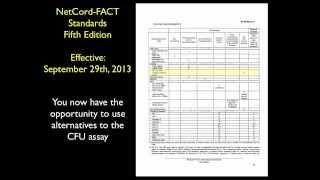 Changes in NetCord-FACT Standards allow CFU-Alternative Assays: What Does This Mean for You?