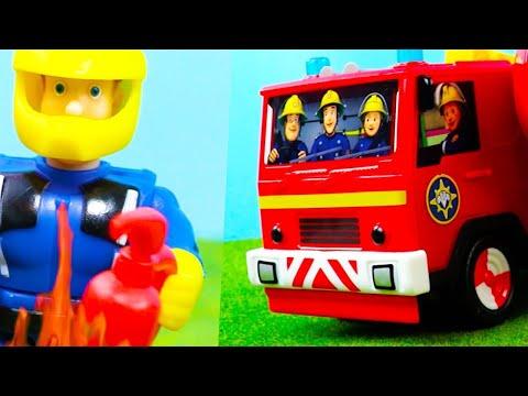 Feuerwehrmann Sam Spielzeug Deutsch   Neue Feuerwehrautos & Station für Kinder   Kinderfilm