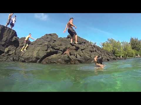 Jumpin the Rocks at Richardson Beach Park - Hilo, HI