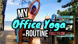 📎 Office Yoga For Beginners 📌 My Office Chair Yoga Quickie Flow