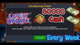 80000 Cash Every Week in 8 ball pool | Latest Update 4.0.0 | Miniclip 8 ball pool