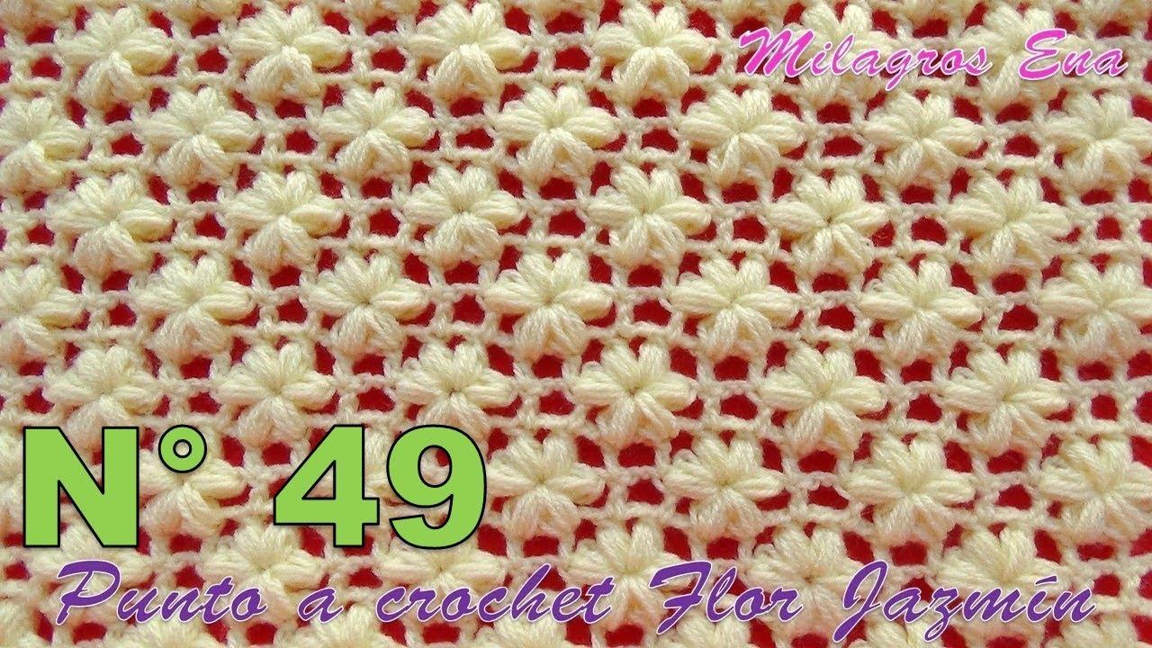Punto A Crochet Flor Jazmín Paso A Paso Para Aplicar En Mantitas Chalecos Y Cojines Youtube
