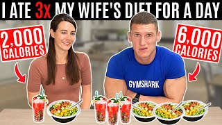 I ate 3x my wife's diet for a day *6,000 CALORIES*