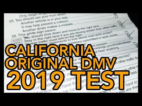 2019 California DMV written test