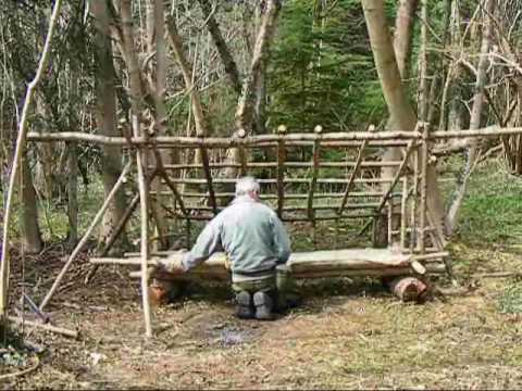 bushcraft survival long term wilderness shelter patr 4 of 7 making a ...