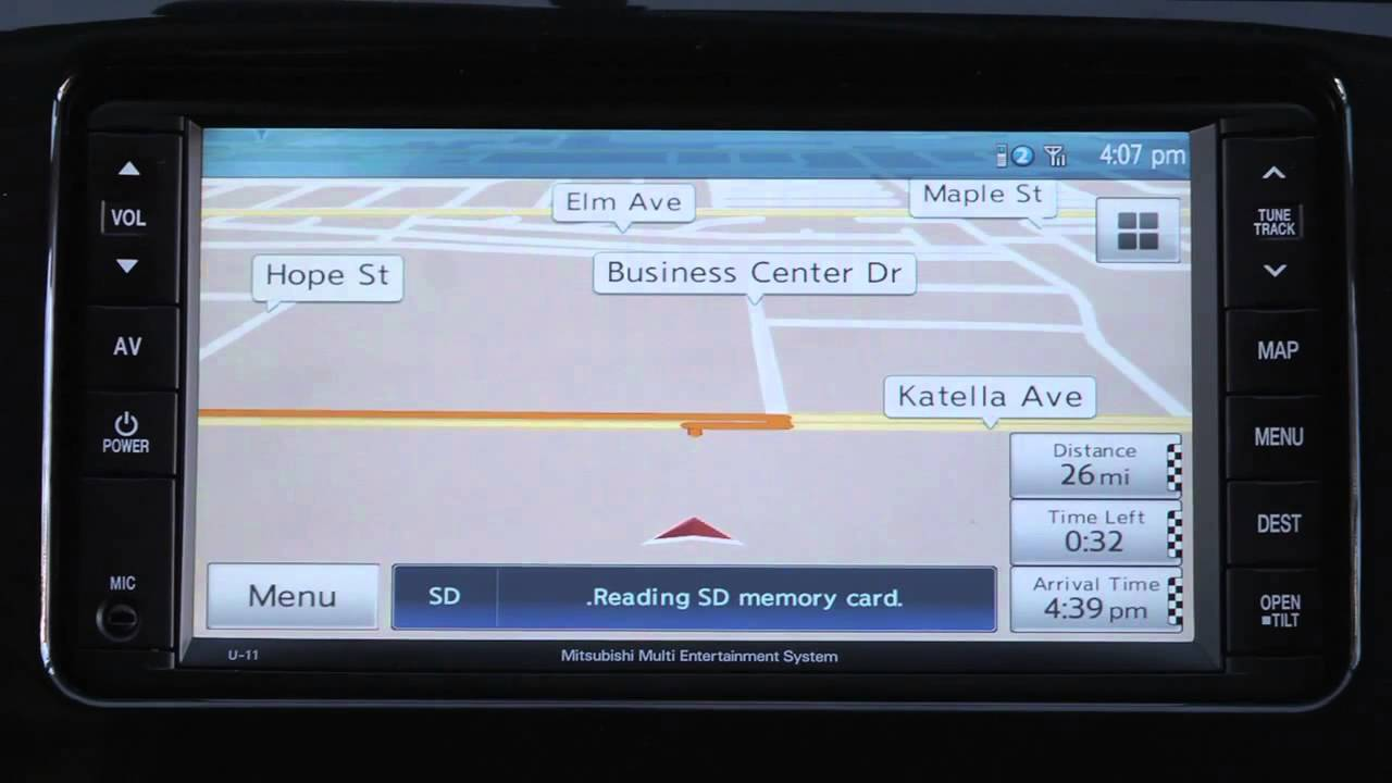 Play Music from an SD Memory Card 2014 Mitsubishi Vehicles Without  Navigation