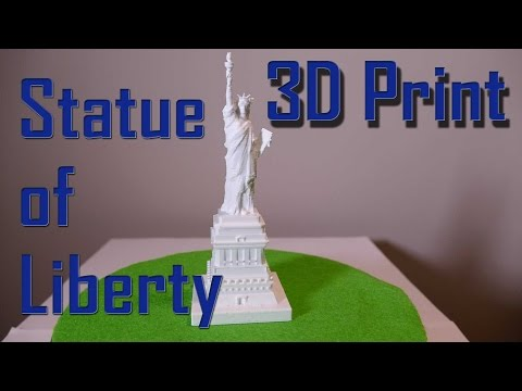 3D Printer Time-lapse - Statue of Liberty - Ultimaker 2 3D Printed