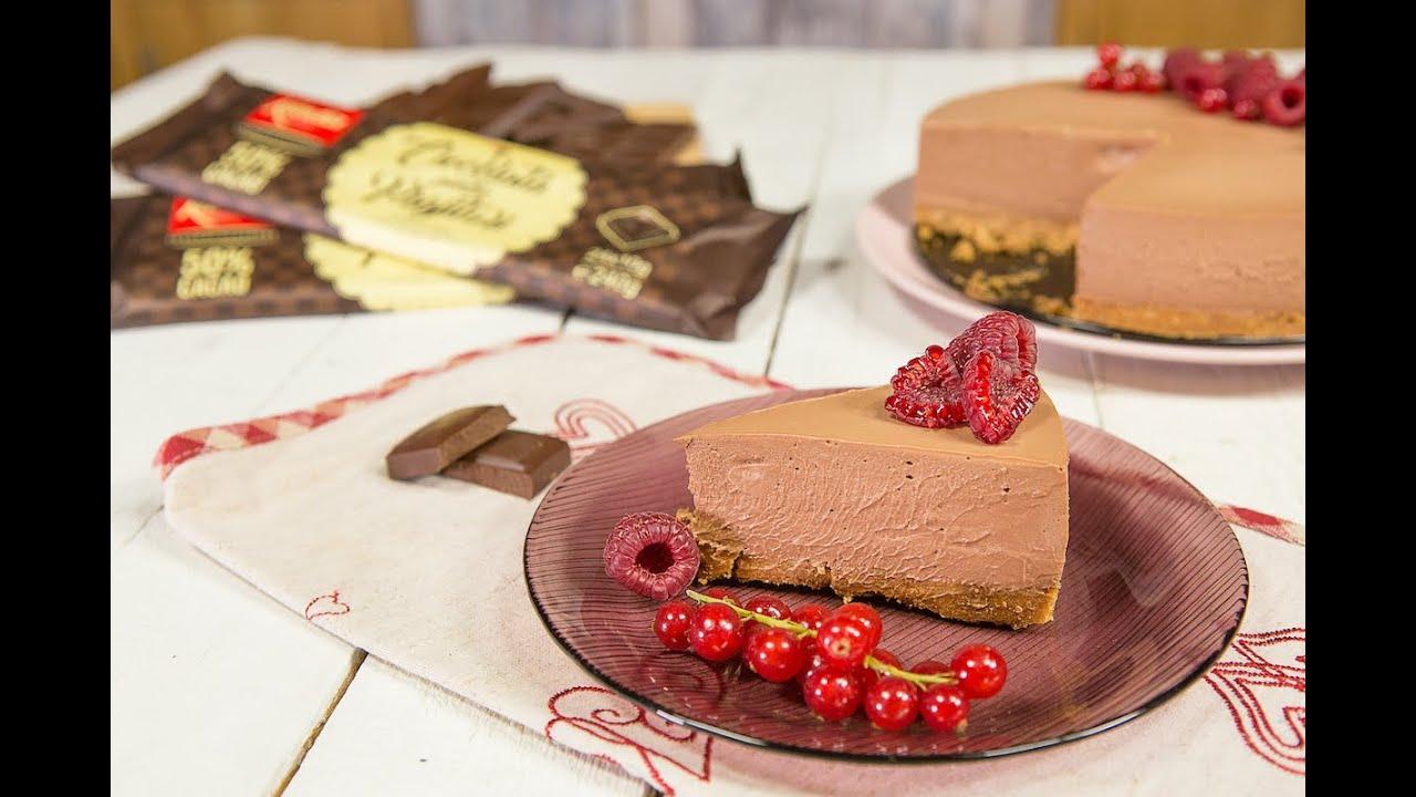 Cheesecake cu ciocolata neagra Kandia pentru prajituri, 50% cacao superioara cu origine Ghana