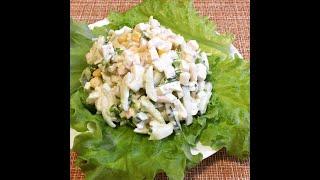 салат с кальмарами и свежим огурцом - легкий и сытный!