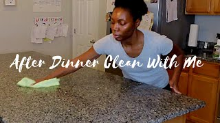 After Dinner Clean With Me || Cleaning Motivation || Cleaning After Dark