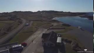 Drone Over Scourie Caravan and Camping Site, Scourie Village and Local Area