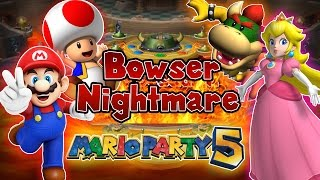 ABM: Mario Party 5 Gameplay!! Bowser Nightmare!! HD