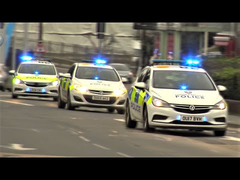 OFFICER DOWN!! - Police Cars Responding URGENTLY in CONVOY, UNMARKED K9 + Fire Engines & Ambulances!