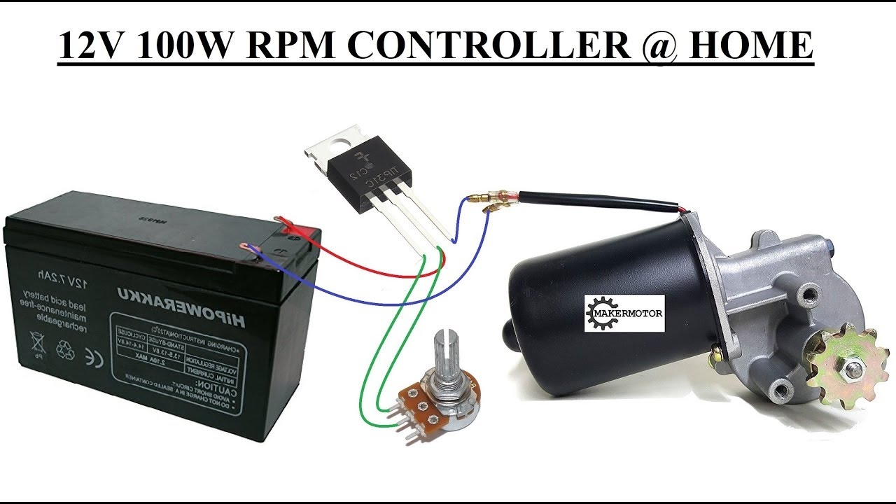 Homemade Powerful 12V 100W DC Motor Speed Controller | PCBWAY