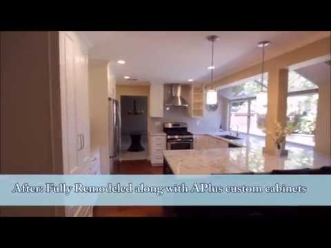 Complete Kitchen Remodel With Custom APlus White Cabinets In City Of Irvine Orange County