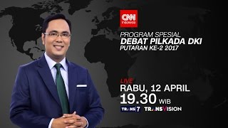 Video DEBAT PILKADA DKI PUTARAN KEDUA | Promo CNN Indonesia download MP3, 3GP, MP4, WEBM, AVI, FLV Oktober 2017