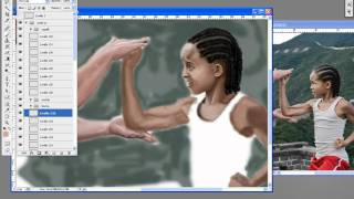 Speed painting of Jackie Chan and Jaden Smith
