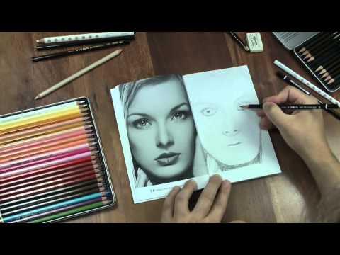 Portrait zeichnen mit dem Praxis Zeichnen Übungsbuch Nr. 6