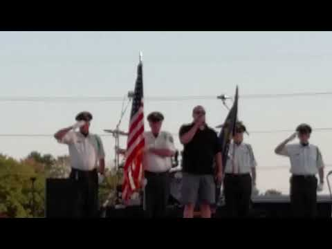 Aaron Beyersdorff/National Anthem at Daughtry Concert Wausau 08/01/19