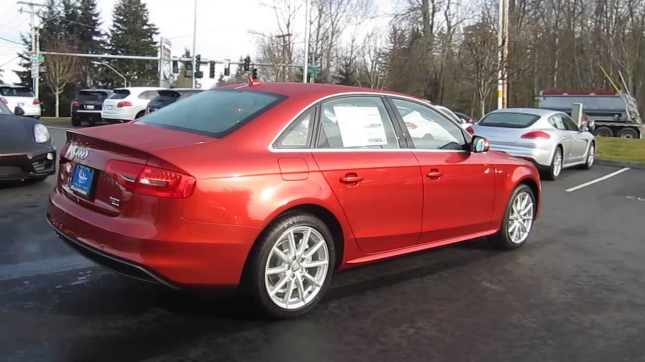 2014 Audi A4 Volcano Red Metallic Stock 109736 Walk