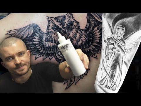 Обзор и аналитика свежих татуировок. Сова & Ангел.
