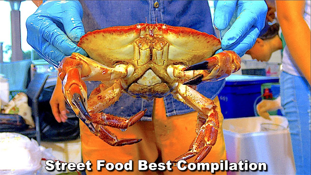 Street Food Best Compilation - Cooking Alive Seafood Scottish crabs! & The Best prawn butter Ep1