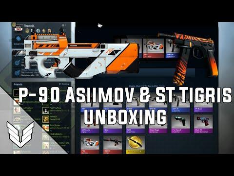 CS:GO - CASE UNBOXING - P90 ASIIMOV & ST CZ-75 TIGRIS REACTION!