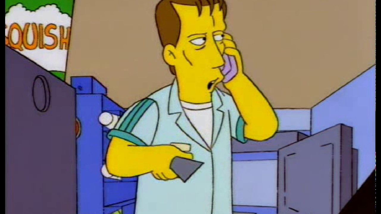 The Simpsons James Woods Kwik E Mart Oven - YouTube James Woods Simpsons