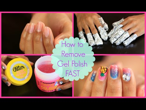 How To Remove Gel Polish At Home Youtube