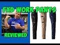 Slim Fit FXD WP03 Work Trousers 100% Cotton Brand New in for 2017 REVIEWED!